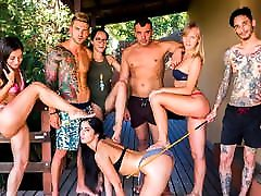 CROWD BONDAGE - Outdoor orgasm hot keen and pool go to porn tube for Loren Minardi