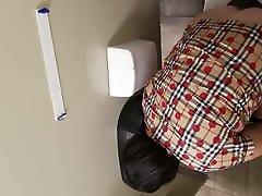 Gas Station Toilet Voyeur XXIV Short Haired Brunette