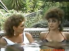 Christy Canyon and Erica Boyer have hot intense lesbian fun