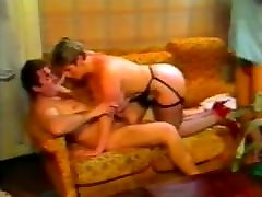 Retro Buxom Stunning Blonde Adores Anal & DP Sex