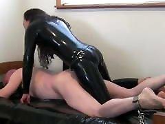 15 penise Mistress ass fucks slave