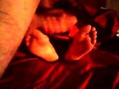 Cum on her pretty soles 4