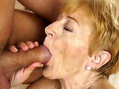 Naughty granny still loves hard dick