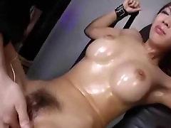 Wet Hairy Toyed Asian Pussy