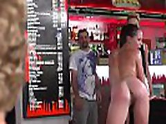 Sweat slave made to lick pussy in public