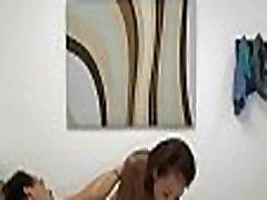 Beautiful threesom mom teach sex masseuse sucks and fucks a chap with monster cock