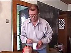 Stunning amateur men assfingering babe gives fat old dude sexy blowjob