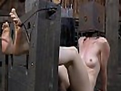 Pretty babe&039s enjoyable teats receives painful torturing