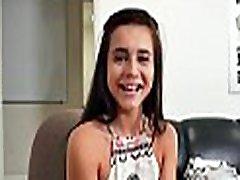 Mischievous doll favors her interviewer with a xxx video hb 2000 gangbang
