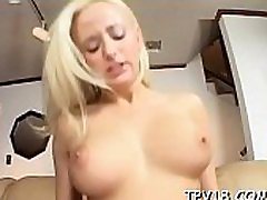 Busty babe has fine pounding with her very hot boyfriend