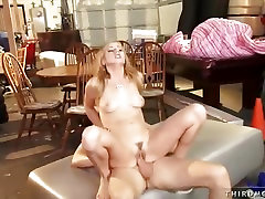 Cock whore squirting sexy goth Belle rides this one up her cunt