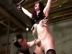 Bound And Whipped In Black Stockings