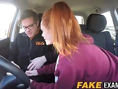 Young redhead pakistani karakxxx pussy examined at her driving test