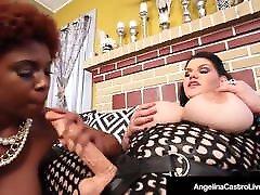 Hot Latina BBW Angelina Castro StrapOn Fucks lisa casa Maserati!