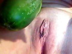 sexy sub slut destroying daddy&039;s perth irish with a giant cucumber