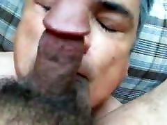 Gay blowjob, rimjob, doggie fuck cock puming cum facial