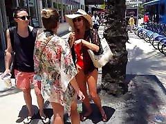 candid voyeur blond tits bikini gorgeous tan legs
