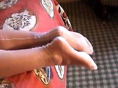 sõbranna&039;s jalad ja jalad valge täielikult vananenud nailon