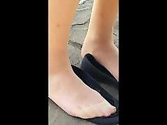 Tan kim cruz thick latina gives Foot Play Teaser