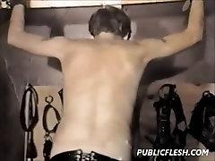 Extreme Retro Gay Spanking And Bondage