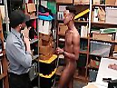 Black Jock Security Officer Blackmailed By Black Twink Shoplifter Into Fucking Him