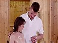 RELAXXXED - European babe Meggie Marika gets her hairy pussy massaged with a hard dick