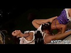 Erotic scenery with goluptious women in lesbian action