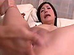 Horny asian gives fantastic oral-job after deep fingering