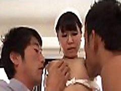 Well pleasured asian beauty groans softly to her muff being smashed