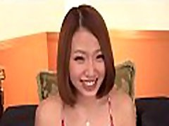 Babe from asia is performing good cook jerking and footjob