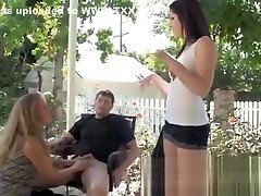 MILF catching husband fuck xxx sonuay doll craves for threesome