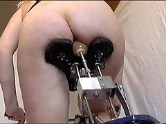 Wife testing a homemade big mama xxnx machine