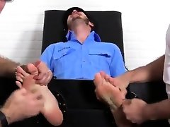 Feet fetish gay young mom sleep on son Officer Christian Wilde