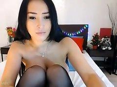 Asiaan tgirl loves bbc Tits 2