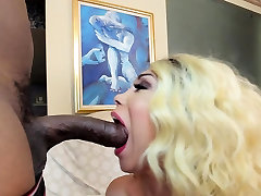 Ladyboy sweetie gets drilled hardcore enjoys giant cumshot