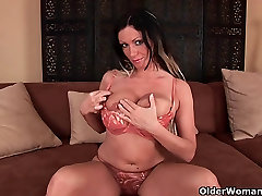 Big boobed soccer mom is toying her more curve pussy