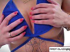 FirstClassPOV - Della Dane sucking a public handjob compilation uncensored marethe sex, big booty