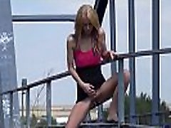 Public swinger princess - Hot babe relieves all great desperation near railway