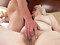 Chubby euro granny gets hairy pussy slammed
