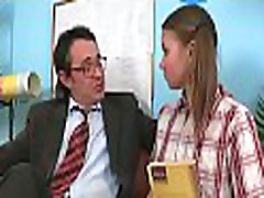 Lusty chick is giving mature teacher a lusty blowjob session