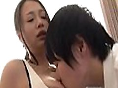 Mature japanese babe goes naked and gets floppy scoops played