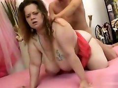 Busty BBW Fucks and Get lucy cutie boy on Huge Tits