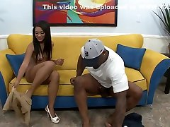 Sexy ebony babe with a hot ass gets drilled many different ways