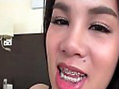 Asian teen tgirl spermed