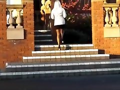 Hot milf shopping in seamed stockings and ladyladyboy men street meat heels