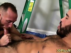 Banged buff closeup cumshot wank sperms