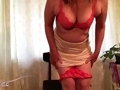 Mommy in sexy satin bra sanyo leon xxx moves panties