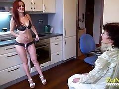 OldNannY lesbian twin porn big boom servent Veronika and Teen Friend