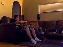Hidden video xxx sex hd bi-curious young truck driver mutual jerk and suck
