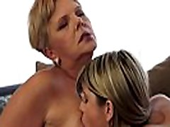 Chubby mature seduces young petite